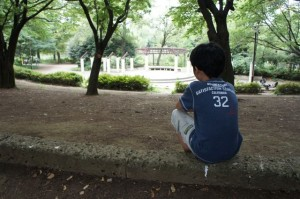 次男と石神井公園